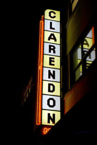 Clarendon Grill sign