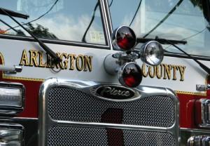 An Arlington County fire truck