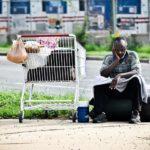 A homeless man in South Arlington. (File photo)