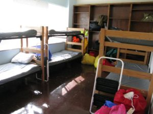 Sleeping quarters in Arlington County's emergency winter shelter