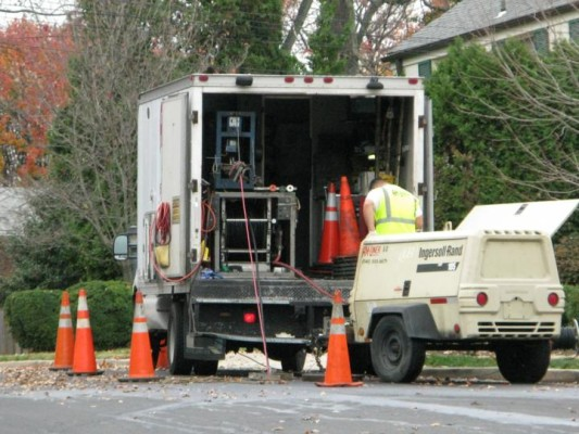 Sewer relining work in North Arlington in Nov. 2010