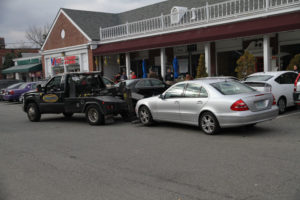 A towing standoff outside Ray's Hell Burger