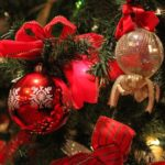 Christmas ornaments in an Arlington hotel