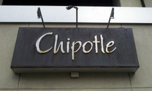 Sign at the Rosslyn Chipotle