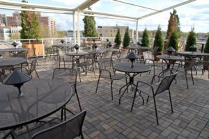 The rooftop deck at Eventide Restaurant in Clarendon