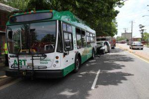 Accident involving ART bus near Ballston