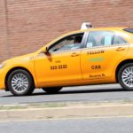 Yellow taxi cab in Pentagon City