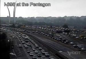 Heavy traffic on I-395 (file photo)