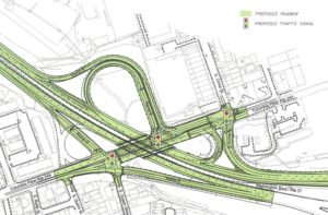 Map of the planned Washington Boulevard/Columbia Pike interchange