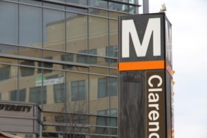 Clarendon Metro sign