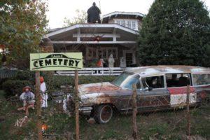Halloween decorations on N. Jackson Street