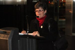Rosslyn BID Executive Director Cecilia Cassidy at the 2011 Light Up Rosslyn Celebration