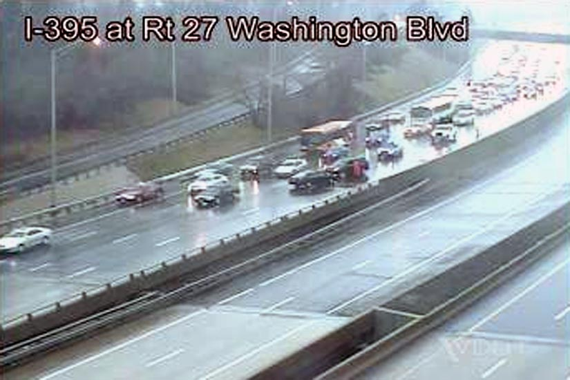 Another Rainy Accident on SB I-395 | ARLnow com