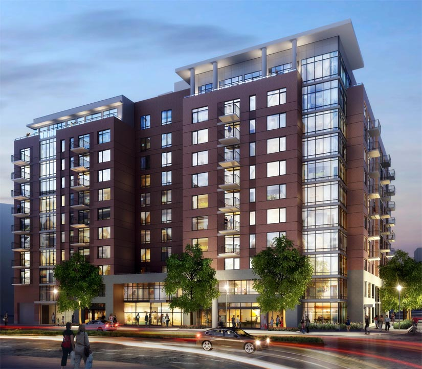 Superb New Apartment Building Proposed For Former Crystal City Post Office Site  (rendering Courtesy Kettler)