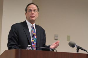 Arlington Public Schools Superintendent Dr. Patrick Murphy presenting his proposed FY 2013 budget in February 2012