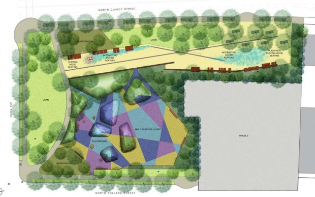 The conceptual design for Mosaic Park from 2012