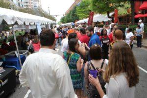 Crowds at Taste of Arlington 2012