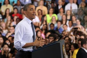President Obama addresses students and parents at Washington-Lee High School
