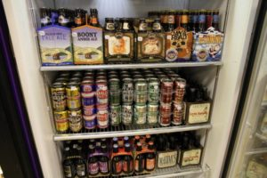 Beers in a refrigerator