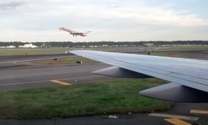 Plane taking off at Reagan National Airport