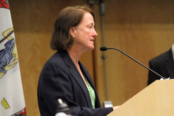 Audrey Clement at the Arlington Civic Federation debate in 2012