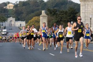 Runners participating in the Army Ten Miler