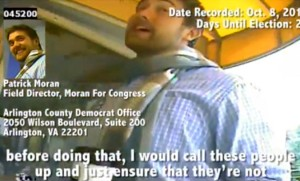 Video grab of Patrick Moran (via YouTube/Project Veritas)