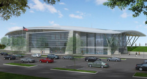 Renderings of the future Long Bridge Park Aquatics, Health & Fitness Facility