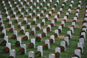 Wreaths at Arlington National Cemetery (Flickr pool photo by Jeff Reardon)
