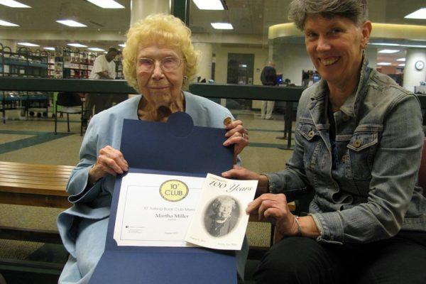 Martha Ann Miller (left) died last week at 106