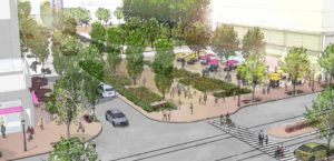 Rendering of PenPlace's 12th Street Plaza