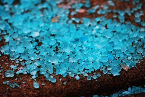 Blue snow melt (photo by Katie Pyzyk)