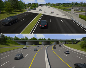 VDOT rendering of new Washington Blvd bridge over Route 110