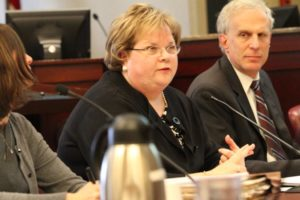 County Manager Barbara Donnellan presents her FY 2014 budget on Feb. 20, 2013