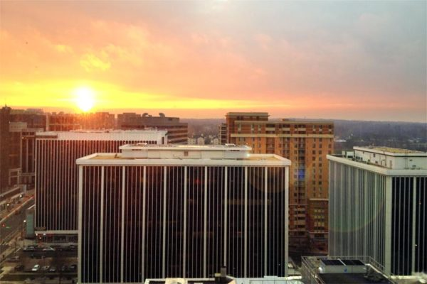 Sunset over Arlington by Mark C. White (photo has been modified from its original version)
