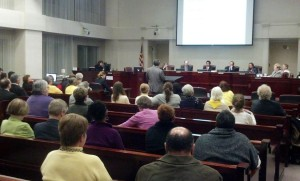 County Board budget hearing on 3/26/13