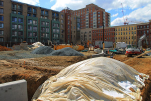 Construction at James Hunter Park in Clarendon