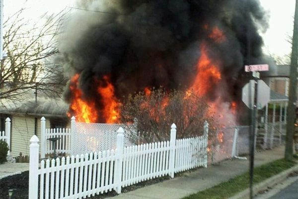 House fire in Nauck on April 4, 2013 (Photo courtesy @CAPT258)