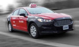 Red Top's 2013 Ford Fusion taxicab