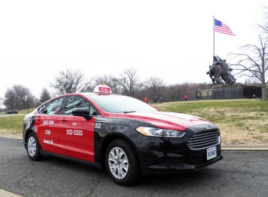 Red Top's Ford Fusion taxicab (file photo)