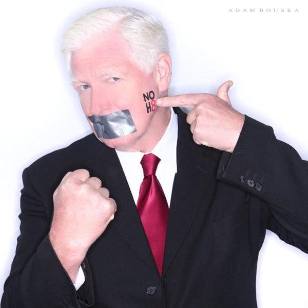Rep. Jim Moran's NOH8 Campaign photo