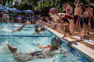 Swim meet at the Dominion Hills pool (Flickr pool photo by Ddimick)
