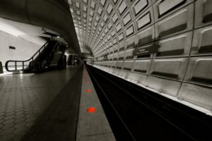 Rosslyn Metro station (Flickr pool photo by Wolfkann)