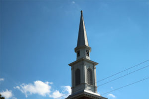 Church steeple in Arlington (file photo)