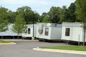 Yorktown High School classroom trailers