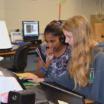 High School students in a computer lab
