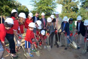 Ashlawn Elementary School addition groundbreaking ceremony (photo courtesy APS)