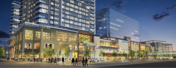 Rendering of proposed redevelopment at Ballston Common Mall