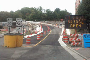 Bridge from Courthouse Road to EB Route 50 now open