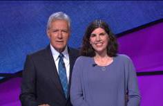 Melissa Jurgens with Alex Trebek (photo courtesy of Jeopardy! Productions, Inc.)